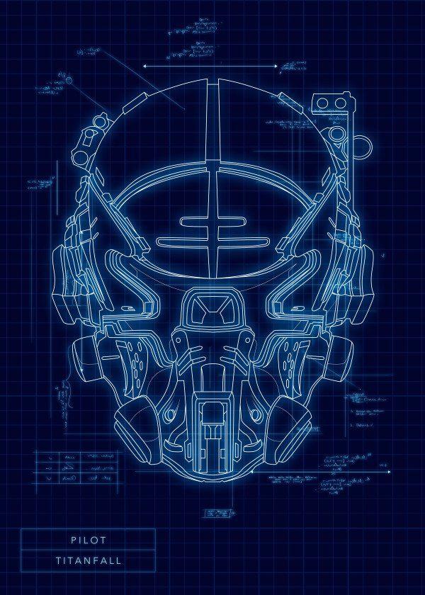 Video Game Protagonist Helmet Blueprints Titanfall Pilot # ...