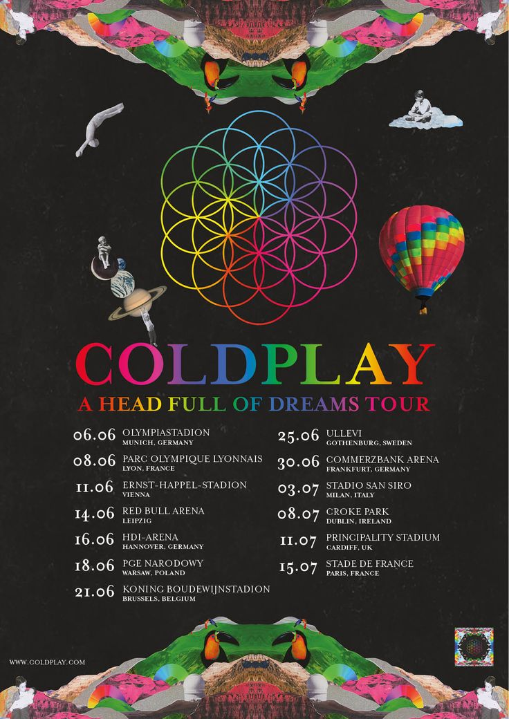 Coldplay announces UK and Europe Tour dates of 2017 #coldplay #AHFODtour #coldplay2017 #coldplayTour