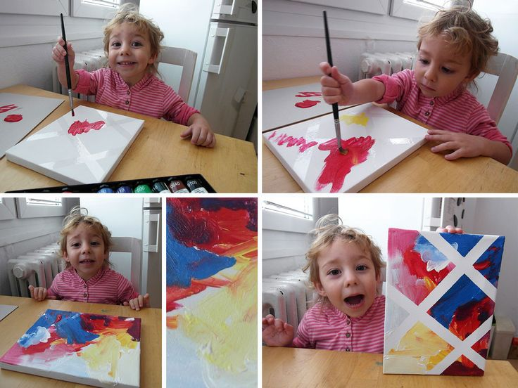 painting with kids, acryl, 2 years, diy, activity drawing