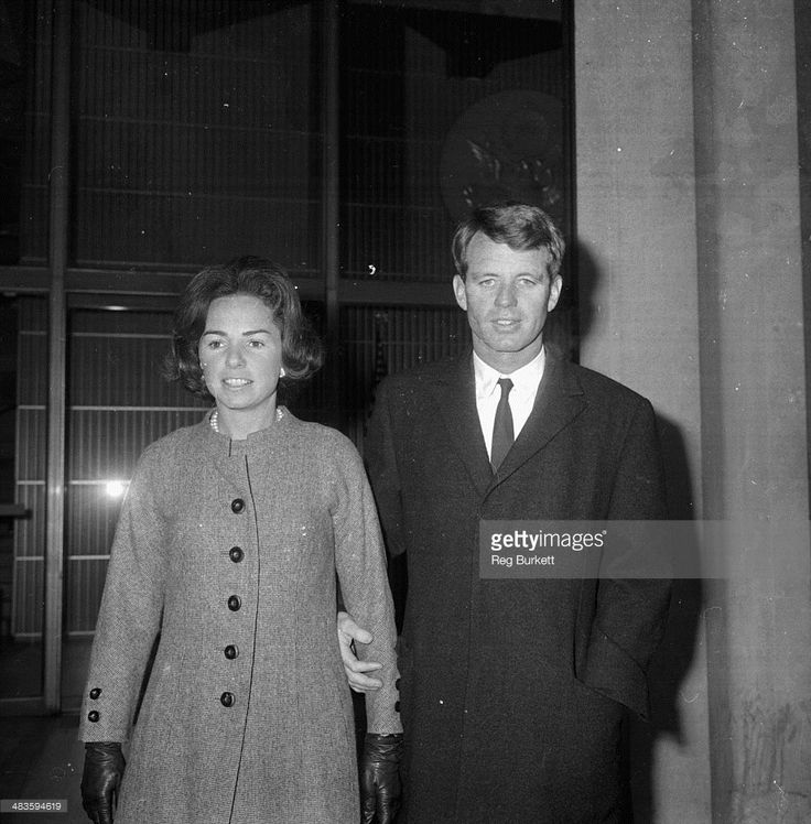 United States Attorney General Robert F Kennedy with his wife in London, during a visit to England, 25th January 1964.