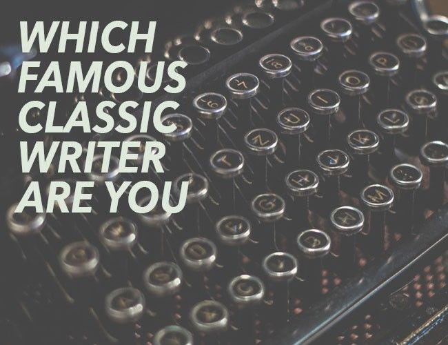 Which Famous Classic Writer are You?
