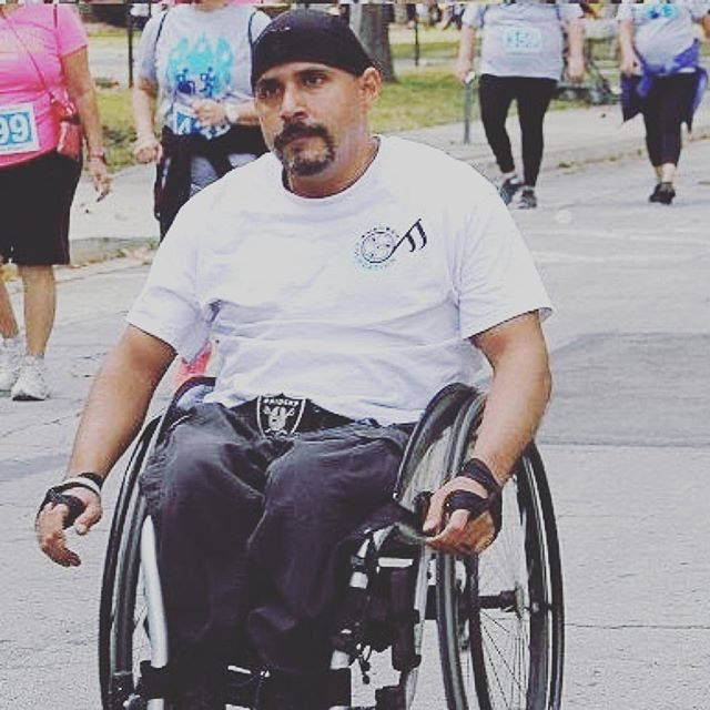 @handbandpro_llc  how is this for awesome?? a 5k with 2 minutes knocked off his previous time! congratulations, @rudyfimbres! you are an inspiration! this was me doing a 5k at rancho los amigos hospital last year. only my second 5k in 20 years and i tool
