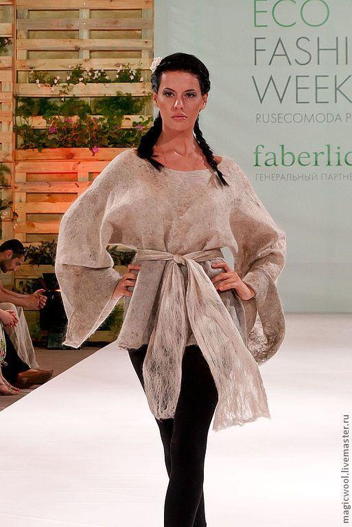 Купить Жемчужно-серый свитер-паутинка - серый, жемчужный, ажурный свитер, кимоно, паутинка