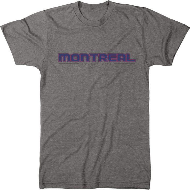 Trunk Candy Mens Montreal Hockey Club Premium Tri-Blend T-Shirt