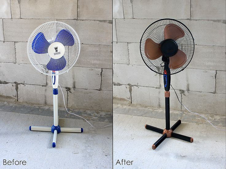 Fan, diy, painting, makeover