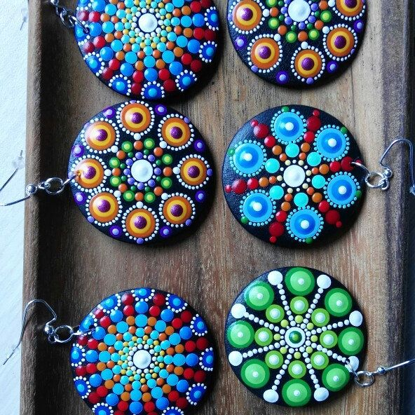 Mandala earrings are ready. Wooden jewelry. This Saturday November 5, will be added to Etsy shop.