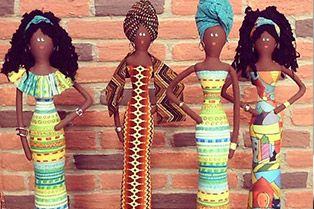SONHO LILÁS-artesanatos: Bonecas Africanas de Pano - Lindas!  (Partes 1 e 2...