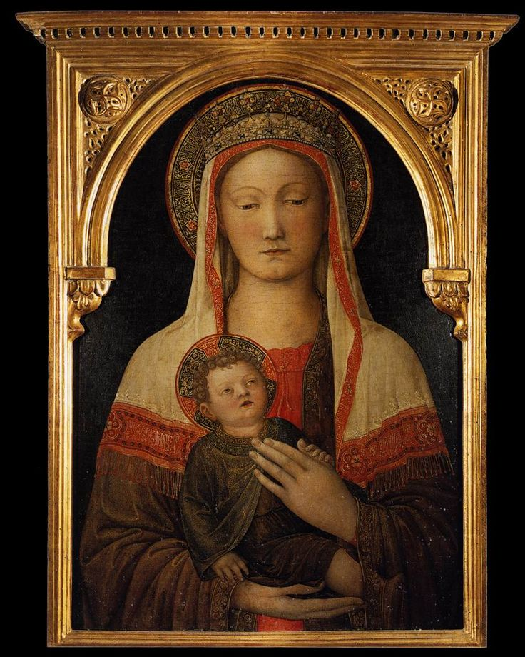 By Jacopo Bellini, 1 4 5 0, Madonna and Child, tempera on panel, Galleria degli Uffizi, Firenze (Italy).