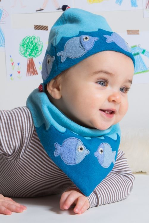 Kostenlose Nähanleitung plus Schnittmuster: Mütze & Halstuch für Babys - Initiative Handarbeit