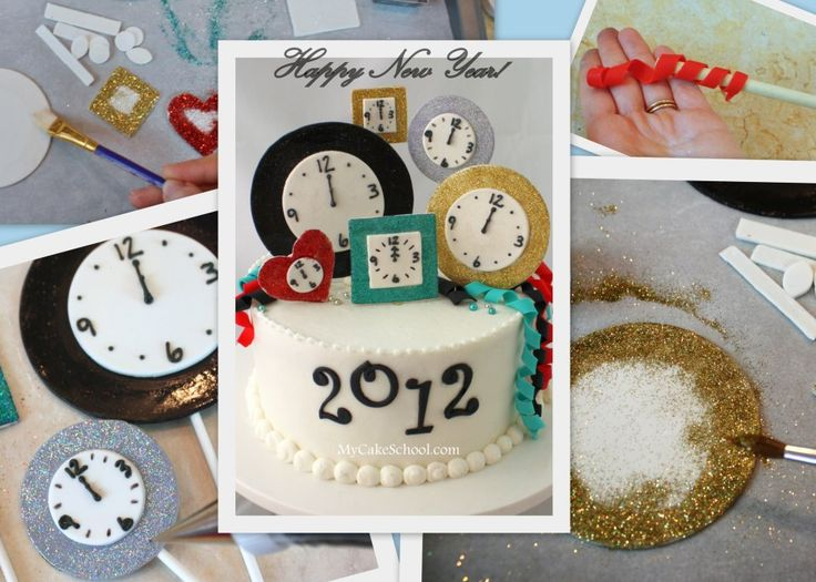 Happy New Year Cake–Blog Tutorial