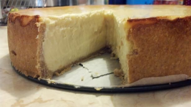 Food Recipe New York Style Cheesecake On Shortbread Crust