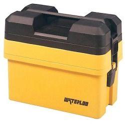 Waterloo Tool Boxes 16-1/4inch Great Tool Organizer Plastic Organizer Tool Box, Yellow - WATHP50465