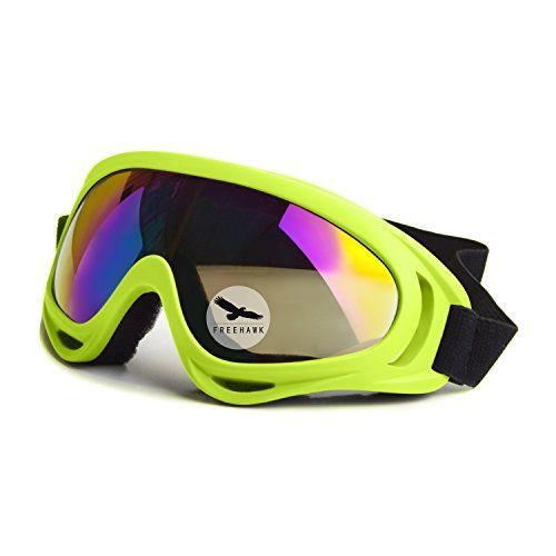 Cycling Protective Gear - Freehawk Protective Eyewear Goggles with Adjustable Strap and Cool Colorful Lens for Hunting Riding BMX Cycling Motorcycling Climbing and Shooting * Click image to review more details.