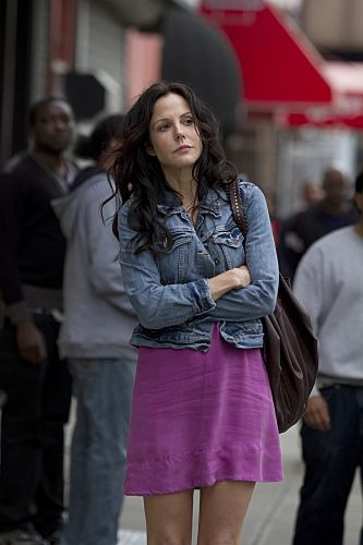 bright dress + jean jacket #Weeds