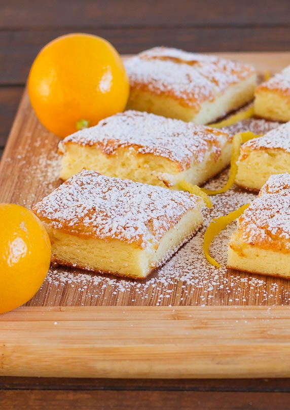 "Two Ingredient Fat Free Lemon Bars Yield: 12 servings Calories per serving: 143 Fat per serving: 0 1 box Angel Food Cake ; 1 22 oz can lemon pie filling (or 1 jar lemon spread) Line deep 9x13"" pan with parchment paper. Mix angel food cake +lemon pie filling til well incorporated, may foam a bit. Pour batter in baking pan+bake for 30 to 40 min at 350 Fº. Top with icing sugar (opt)."