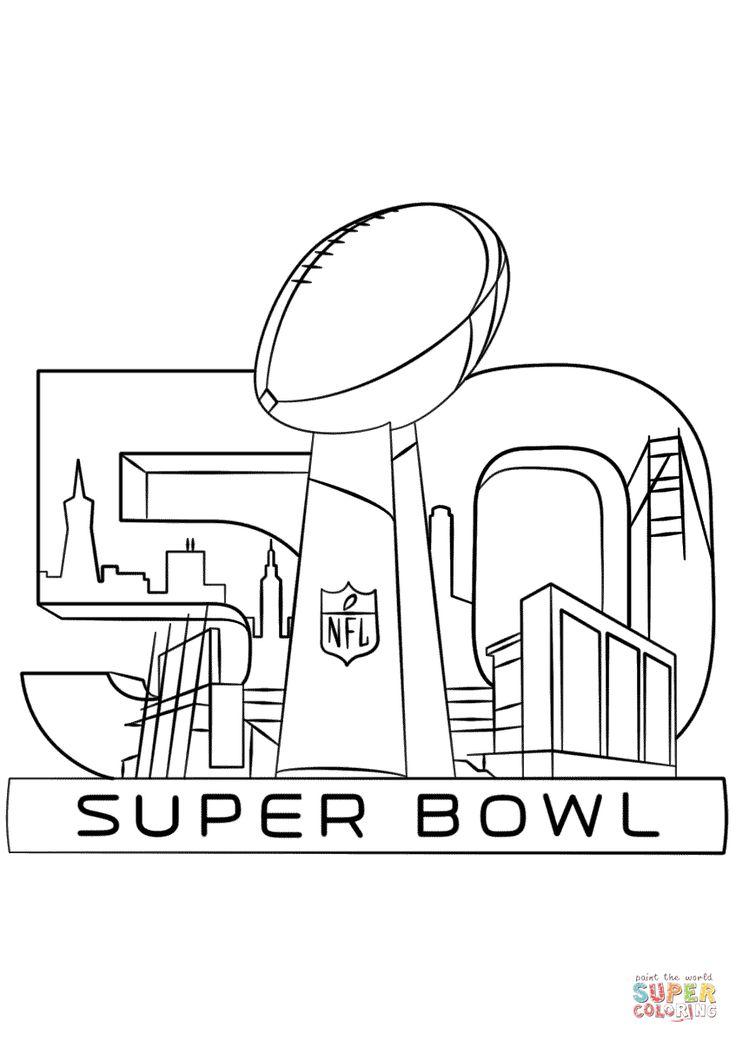 Super bowl trophy coloring pages