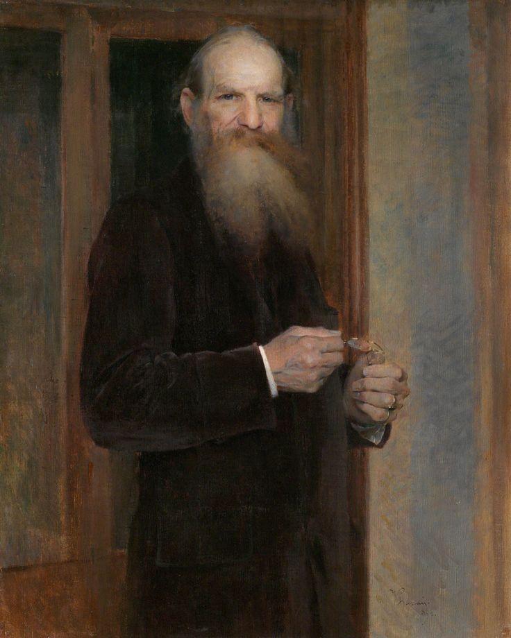 Vojtěch Hynais (1854–1925). Portrait of Josef Hlávka, 1894,