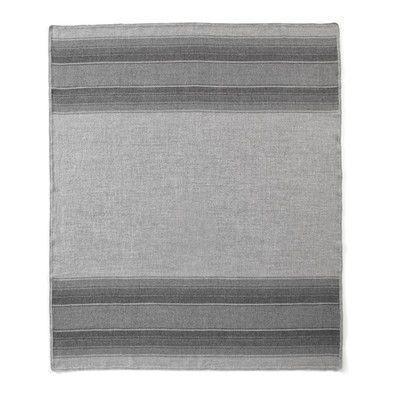 Fibre by Auskin Baby Alpaca Woven Throw Color: Dark Grey/Light Grey