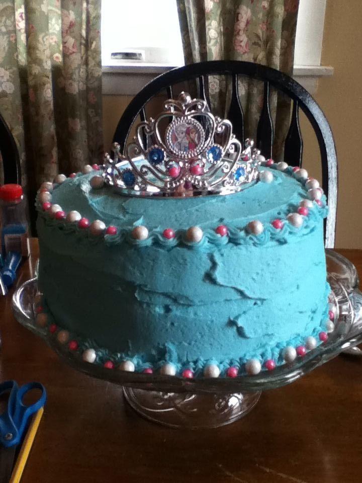 homemade FROZEN cake :) hand decorated!