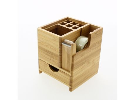 BOXWEY #Schreibtisch #Stifthalter aus #Bambus und #Edelstahl