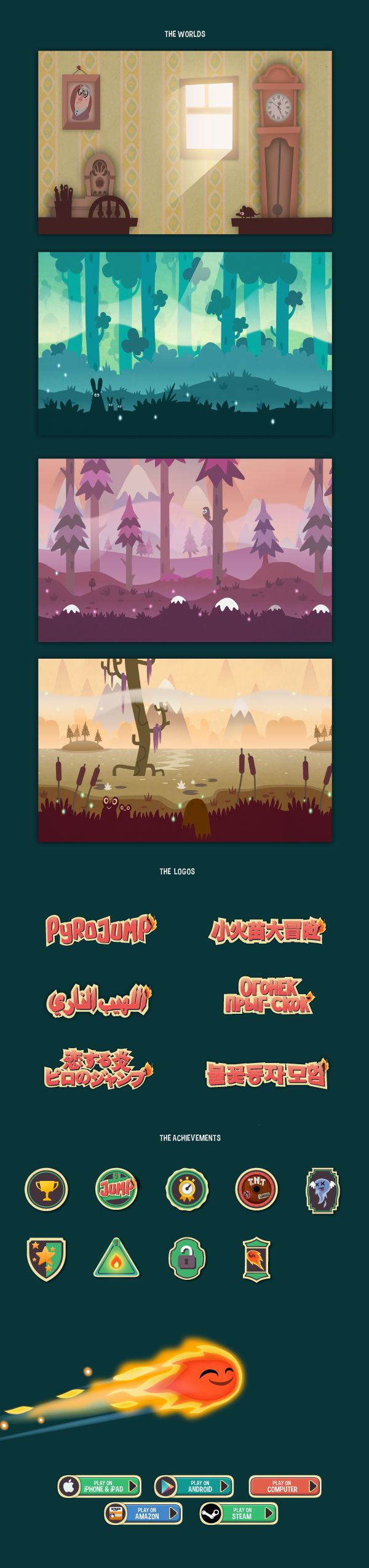 Pyro Jump - video game by Alexandre Imbert, via Behance
