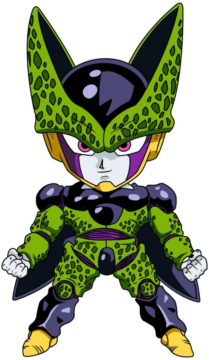 Personajes Chibi de Dragon Ball- Cell Forma Perfecta