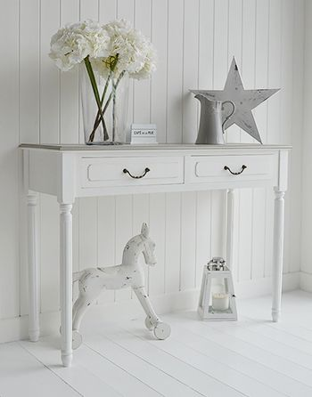 Cove Bay grey and white console table for hall