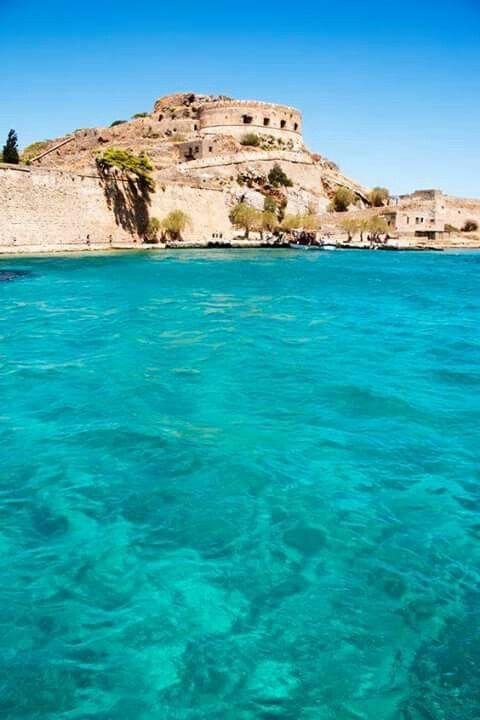 Spinalonga island, Elouda bay, Crete island, Greece