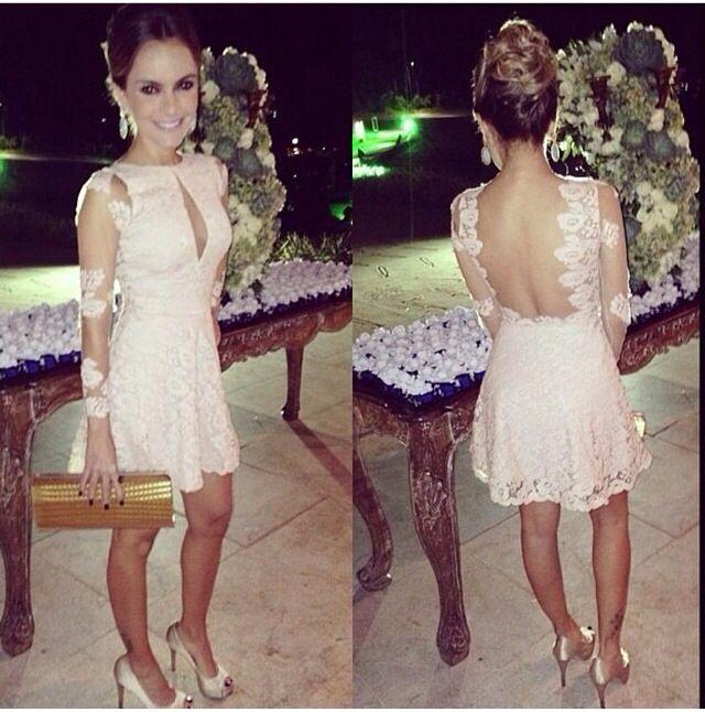 Hermoso vestido corto de Novia..!