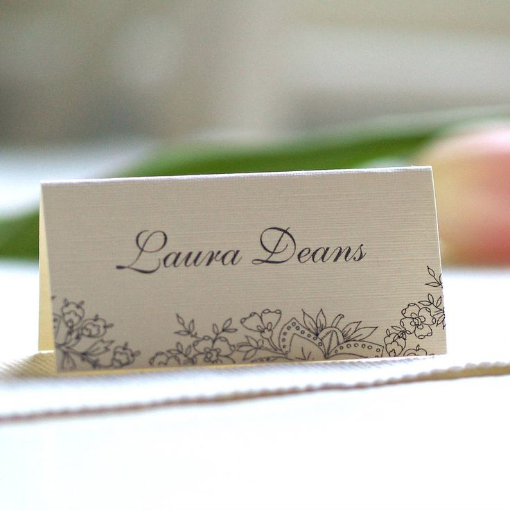 lace design name cards wedding name wedding place