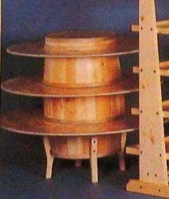 rustic food displays | Rustic Barrel Display - Barrel Display - Cedar Barrel Display - Wood ...