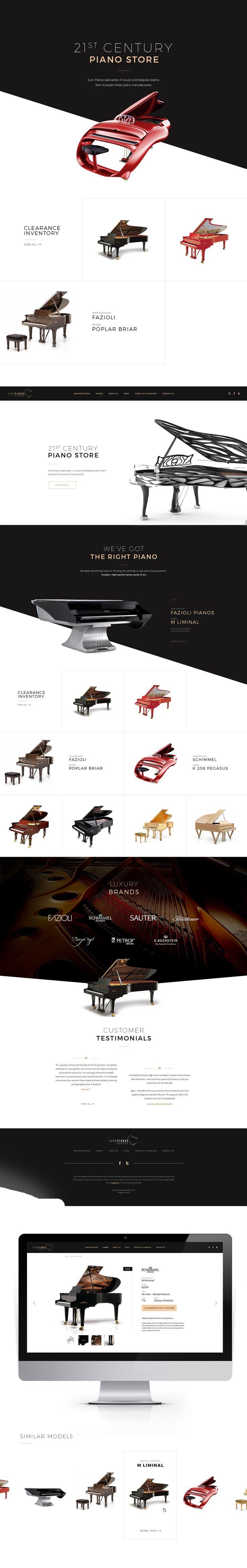 Web design. Luxury piano store.