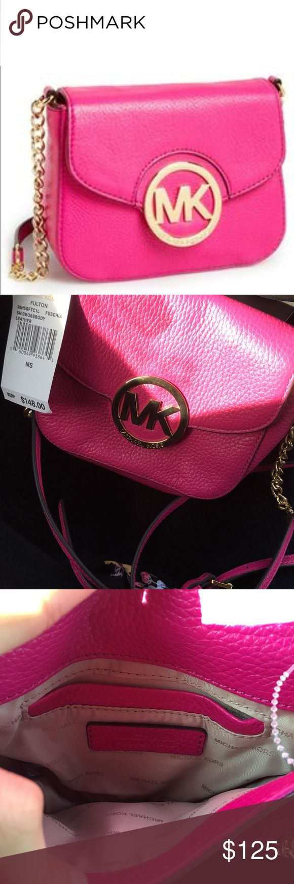Brand New w Tags Michael Kors Hot Pink Fulton Brand New Michael Kors Hot Pink Fulton, retails over $150! Makes a perfect gift! Great for the holidays 💕 Michael Kors Bags Crossbody Bags