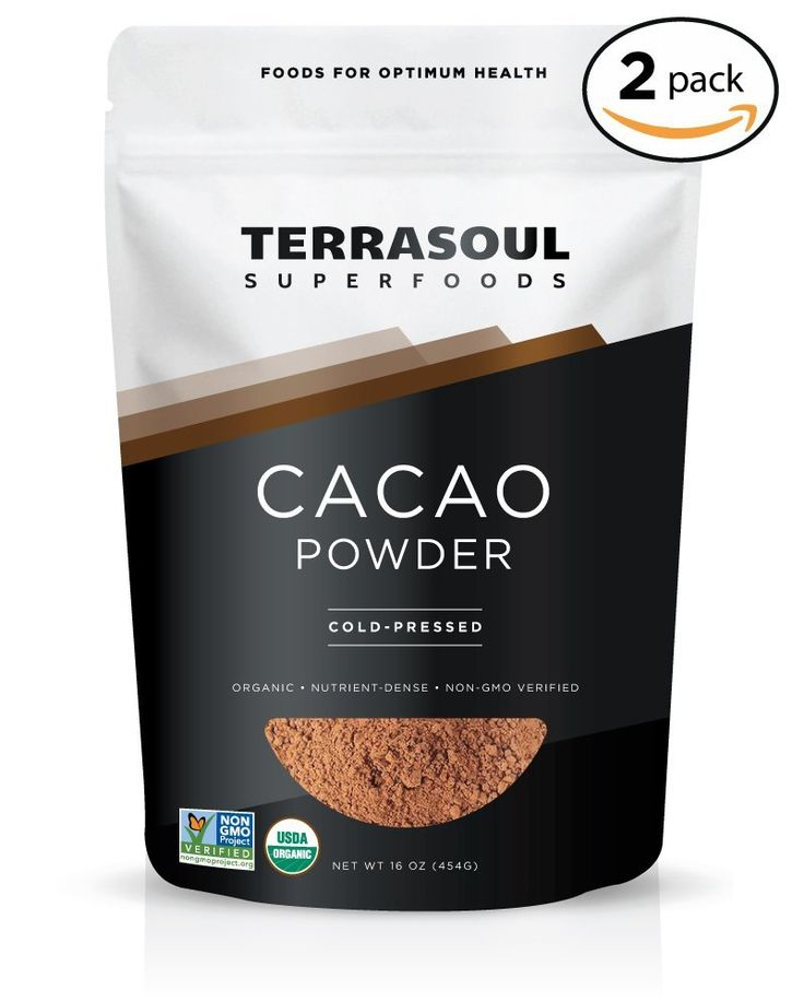 Amazon.com : Terrasoul Superfoods Raw Cacao Powder (Organic), 16-ounce : Baking Cocoa : Grocery & Gourmet Food