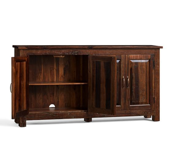 bowry reclaimed wood media console pottery barn - Reclaimed Wood Media Console
