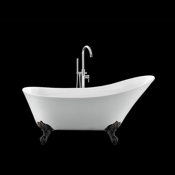 Les 25 meilleures id es concernant baignoire sur pattes - Baignoire avec pied ...