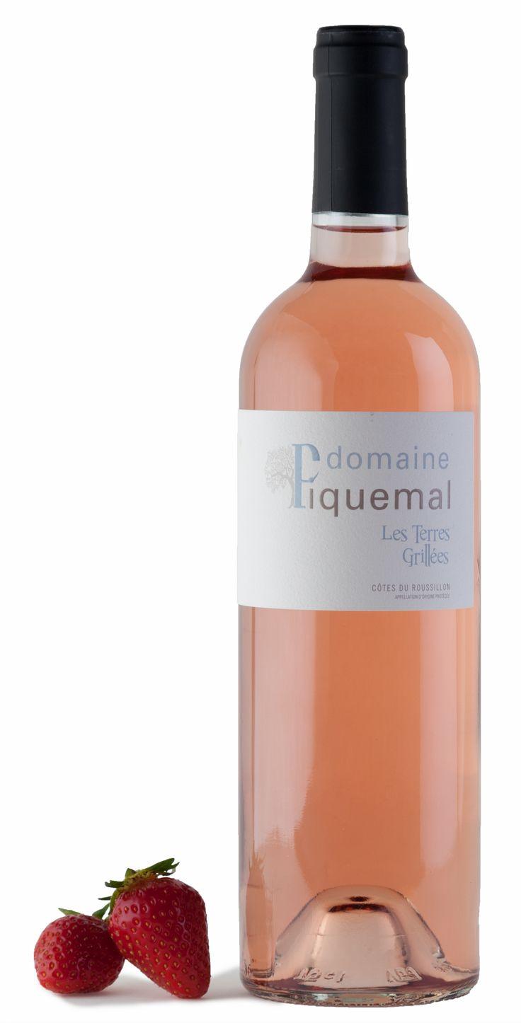 """Quoi de plus frais et délicieux qu'une dégustation de vin rosé """"Terres grillées"""" du Domaine Piquemal ?"""