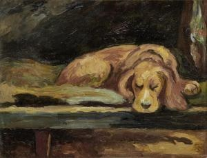 Virginia & Leonard Woolf's Spaniel by Vanessa Bell