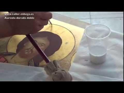 CÓMO HACER ICONOS BIZANTINOS (Hodigitria y Pantocrátor) - YouTube