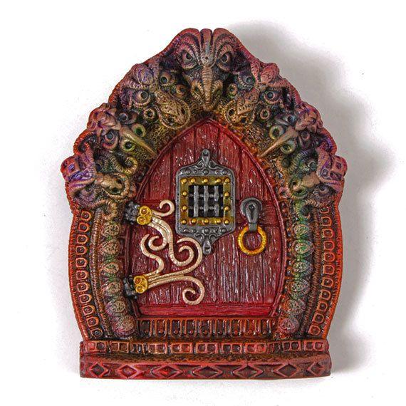 Gargoyle Fairy Door by LadybirdandLeaf on Etsy, £22.50