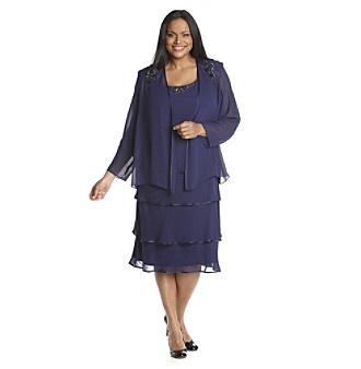 S L Fashions Sleeveless Asymmetrical Tiered Dress Chiffon Lined Size