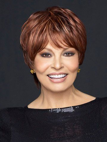 Intimate Large Synthetic Wig by Raquel Welch by Raquel Welch. $109.65. Combining ready-to-wear styling with a light, cool fit, this modern take on the classic boy cut weighs just two ounces! Short straight layers in the top and crown naturally blend with slightly waved layers in the sides and back. Feathered bangs and a full extended nape complete the look. Special features include Memory Cap II base, open ear tabs and extended nape. The Memory Cap II capless c...