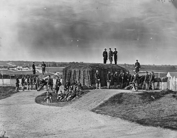 Union Soldiers Manning the Defenses of Washington D.C.