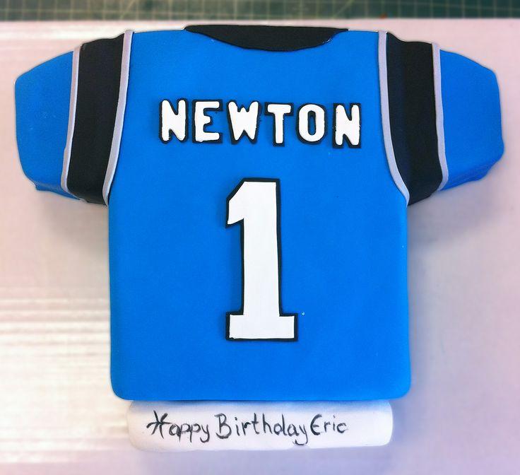 A Carolina Panthers jersey cake. Cake # 026.