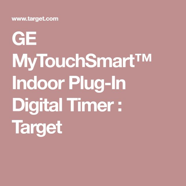 GE MyTouchSmart™ Indoor Plug-In Digital Timer : Target