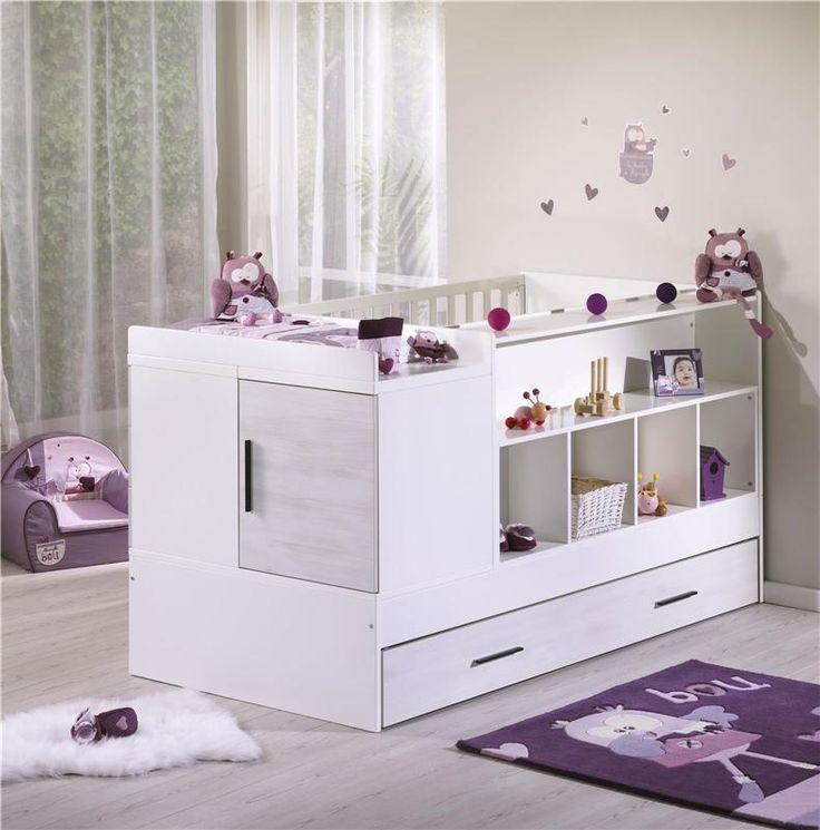 Lit chambre transformable gtris clair de 140x70 cm en 90x200 cm (0-18 ans +) Zen Rivage Sauthon - BadBouille