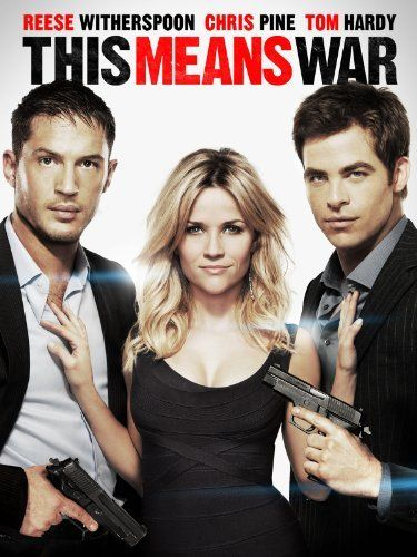 THIS MEANS WAR (2012) - Comedy/action/romance - FDR (Chris Pine) and Tuck (Tom Hardy) are covert CIA operatives and best buddies...until they both fall for charming and sexy Lauren (Reese Witherspoon). Their friendship is put to the ultimate test as they wage an epic battle for her affection, using their surveillance skills and an array of high-tech ... gadgetry -- may the best spy win!