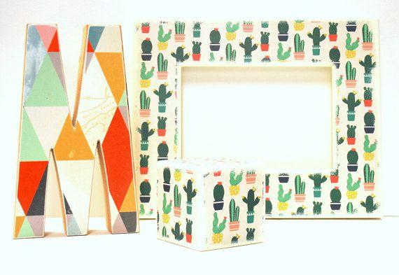 Cactus cornice di legno cornice di 5 X 7 spessore legno