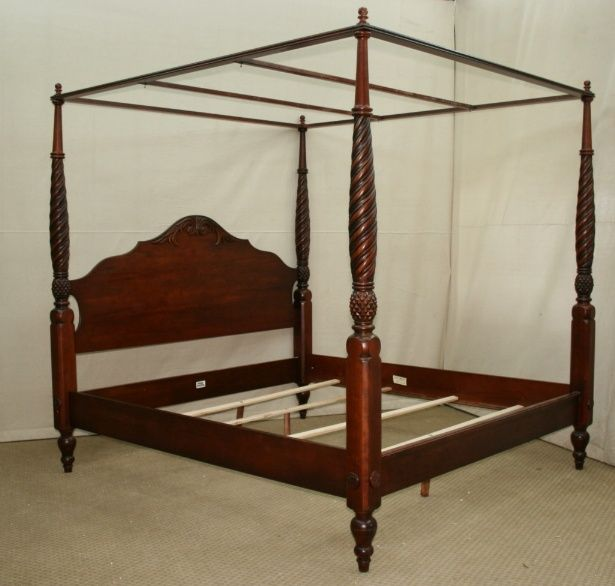 King Size 4 Poster Bed Part - 43: King Size Canopy Beds | ... Allen British Classics Montego King Size Canopy  Poster