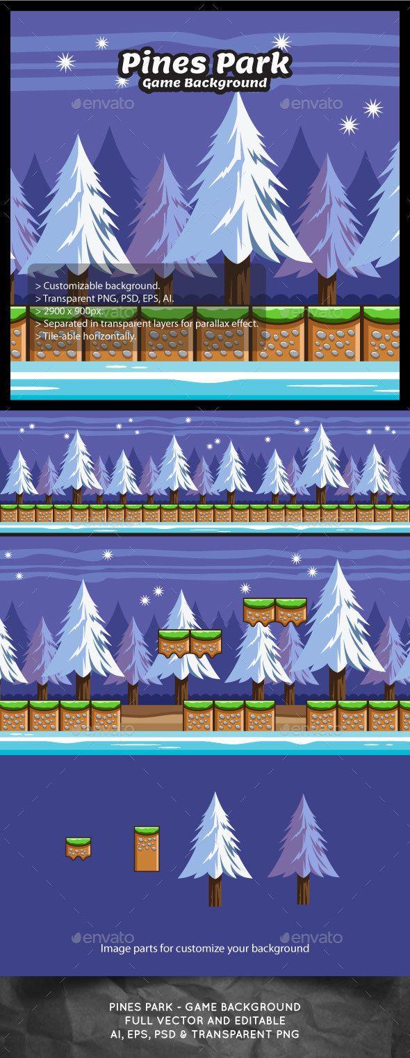 Snowy Pines Forest Game Background Download here: https://graphicriver.net/item/snowy-pines-forest-game-background/16838644?ref=KlitVogli